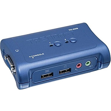 TRENDNET TK-209K USB KVM Switch Kit With Audio, 2 Ports