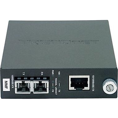 TRENDNET® TFC-110MST RJ-45 to ST Multi Mode ST Fiber Converter, 100 Mbps