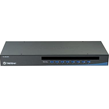 TRENDNET TK-803R USB/PS/2 Rack Mount KVM Switch, 8 Ports