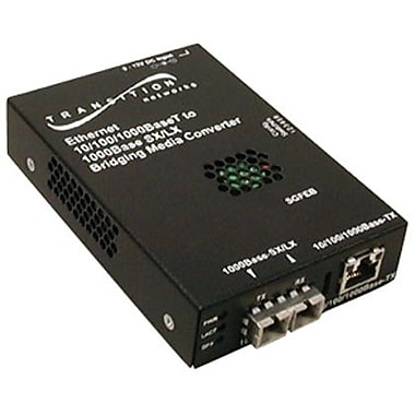 Transition Networks® SGFEB1014-120 10/100/1000BTX to 1000BLX Media Converter
