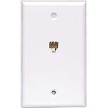 STEREN 300-204 Telephone Wall Plate, White