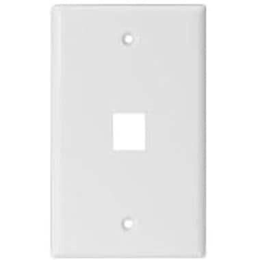 STEREN® 310-201 Keystone Wall Plate, White