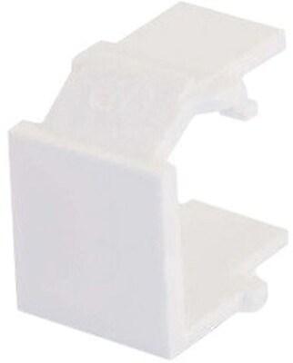 C2G 03820 Snap In Blank Keystone Insert Module White