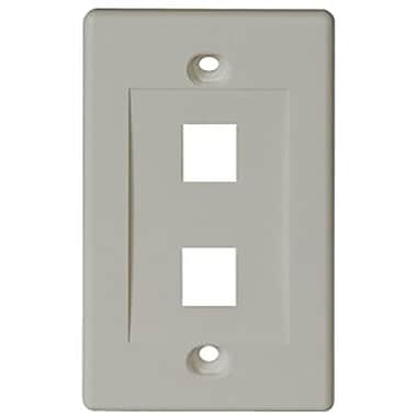 Tripp Lite® N042-001 2-Port Keystone White Faceplate