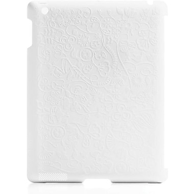 Bluelounge® SL-2F Shell Flower Hard Case For Apple iPad 2, White