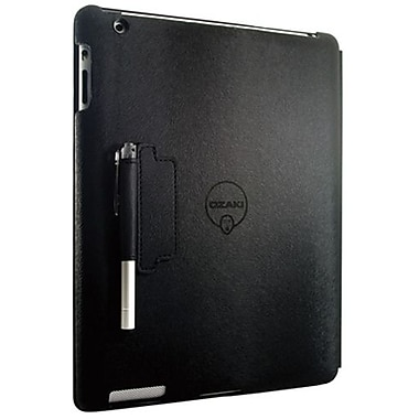 Ozaki® IC509 iCoat Notebook+ Folio For Apple iPad 2, iPad 3 and iPad 4th Generation, Black