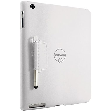 Ozaki® IC509 iCoat Notebook+ Folio For Apple iPad 2, iPad 3 and iPad 4th Generation, White