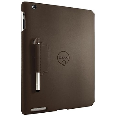 Ozaki® IC509 iCoat Notebook+ Folio For Apple iPad 2, iPad 3 and iPad 4th Generation, Brown