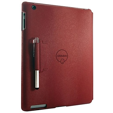 Ozaki® IC509 iCoat Notebook+ Folio For Apple iPad 2, iPad 3 and iPad 4th Generation, Red