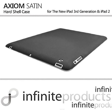 Infinite Products IPD3-AXM Axiom Satin Hard Case For Apple iPad 2, iPad 3rd Generation, Black