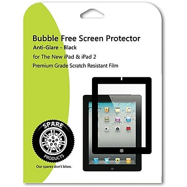 Spare Products SP00624 Anti-Glare Bubble Free Screen Protector For iPad, Black