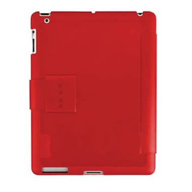 Incipio® IPAD-278 Lexington Hard Shell Folio Case For Apple iPad 3rd Generation, Red/Light Gray