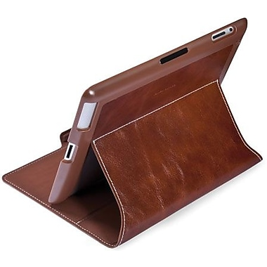 Spare Products SPK-A1282 Luxe Leather MagFolio For iPad 3, iPad 4th Generation, Cognac