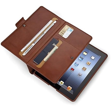 Spare Products WanderFolio Luxe Leather Folio For iPad 3, iPad 4th Generation, Cognac/Cream