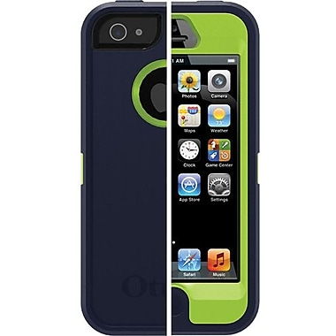 OtterBox™ 77-22114 Defender Series Case For iPhone 5, Punked (Admiral Blue/Glow Green)