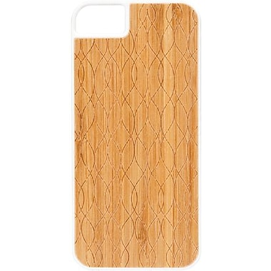 X-Doria 409643 Engage Bamboo Hybrid Case For iPhone 5, Curves/white