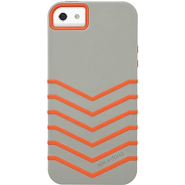 X-Doria 409667 Venue Hybrid Case For iPhone 5, Ash/Tangelo