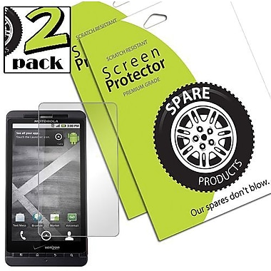 Spare Products SP00227 Anti-Fingerprint Screen Protective Film For Motorola Droid X 2, Clear