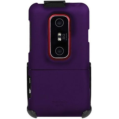 Seidio® Surface™ BD2-HR3HEV3D Hard Case and Holster For HTC EVO 3D/HTC EVO V 4G, Amethyst