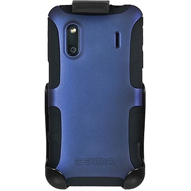 Seidio® Active® BD2-HK3HTKNG Hybrid Case and Holster For HTC Hero S/EVO Design 4G, Sapphire Blue
