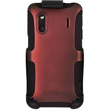 Seidio® Active® BD2-HK3HTKNG Hybrid Case and Holster For HTC Hero S/EVO Design 4G, Burgundy