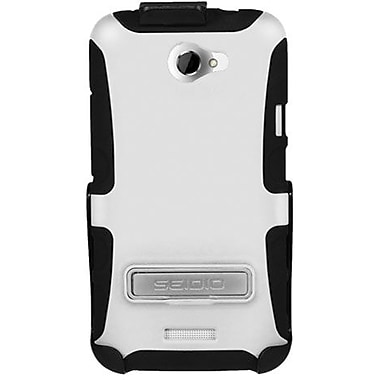 Seidio® Active® BD2-HK3HTNXLK Hybrid Case and Holster W/ Kickstand For HTC One X, Glossy White