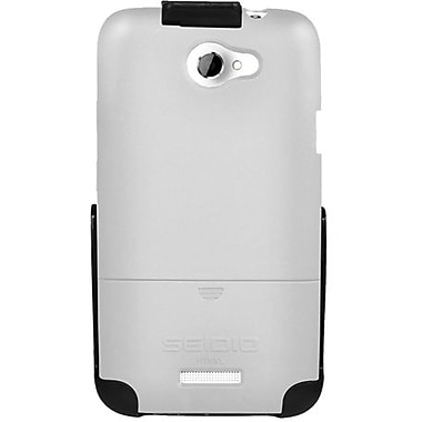 Seidio® Surface™ BD2-HR3HTNXL Hard Case and Holster For HTC One X (AT&T LTE), Glossy White