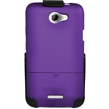 Seidio® Surface™ BD2-HR3HTNXL Hard Case and Holster For HTC One X (AT&T LTE), Amethyst