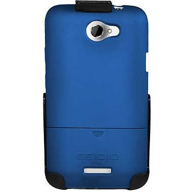 Seidio® Surface™ BD2-HR3HTNXL Hard Case and Holster For HTC One X (AT&T LTE), Royal Blue