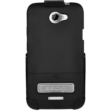 Seidio® Surface™ BD2-HR3HTNXLK Hard Case and Holster W/ Kickstand For HTC One X, Black