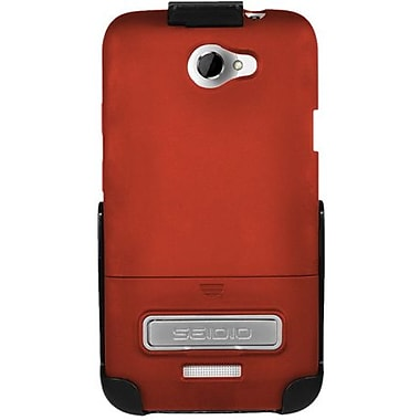 Seidio® Surface™ BD2-HR3HTNXLK Hard Case and Holster W/ Kickstand For HTC One X, Garnet Red