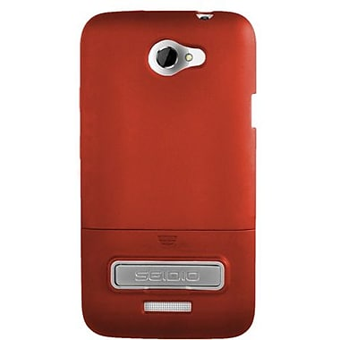 Seidio® Surface™ CSR3HTNXLK Hard Case W/ Metal Kickstand For HTC One X (AT&T LTE), Garnet Red