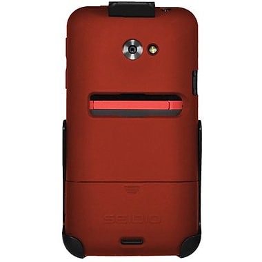 Seidio® Surface™ BD2-HR3HTJET Hard Case and Holster For HTC EVO 4G LTE, Garnet Red
