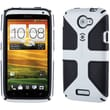 Spare Products SPK-A1124 CandyShell Rubberized Hard Case For HTC One X, Grip White/Black