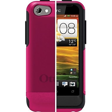 OtterBox™ 77-20744 Commuter Series Hybrid Case For HTC One V, Hot Pink/Black