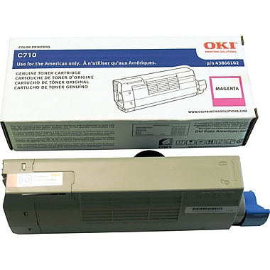 OKI C710 Series Toner Cartridge, Magenta (43866102)
