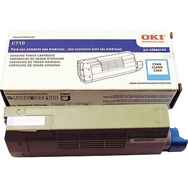 OKI – Cartouche de toner série C710, cyan (43866103)