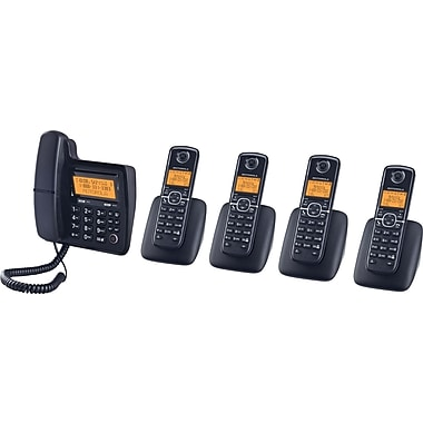 Motorola L705CM DECT 6.0 Cord/Cordless Telephone with 5 Handsets and Digital Answering System