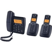 Motorola L703CM DECT 6.0 Cord/Cordless Telephone with 3 Handsets and Digital Answering System