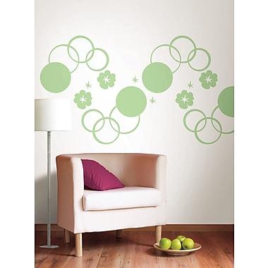 WallPops Oh Pear Green Dots & Hooplah