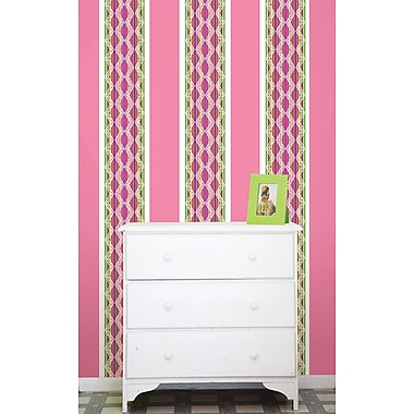 WallPops Petal & Flirt Pink Stripe Kit