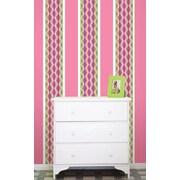 WallPops Petal & Flirt Pink Stripe Kit