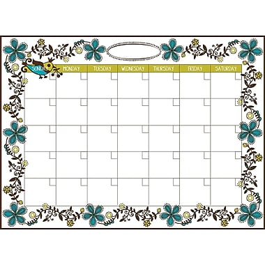 WallPops Anya Dry-Erase Calendar and Message Board