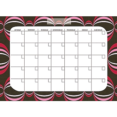 WallPops Loopy Red Dry Erase Calendar and Message Board Set