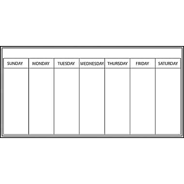 WallPops Weekly Dry-Erase Calendar and Message Board