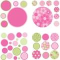WallPops Gone Dotty Pink/Green Pack