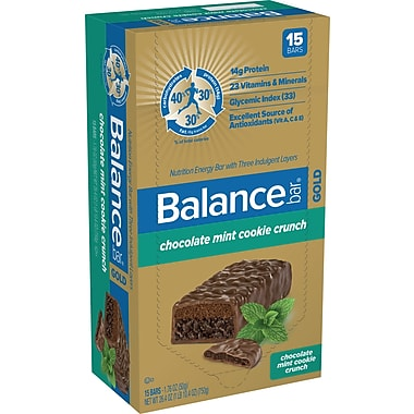 Balance Bars Chocolate Mint Cookie Crunch, 1.76 oz. Bars, 15 Bars/Box