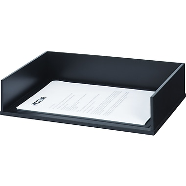 Victor® Wood Desk Accessories Letter Tray, Midnight Black