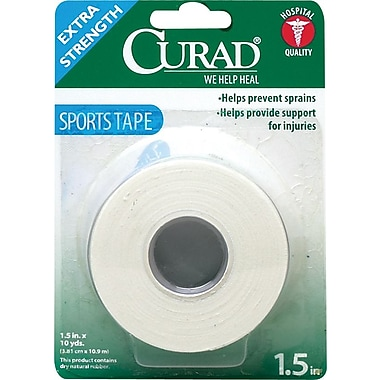 Curad® Sport Tapes, 10 yds L x 1 1/2in. W, 24/Pack
