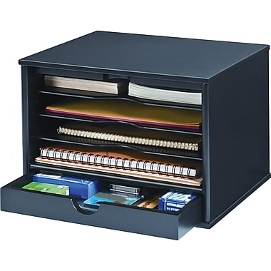 Victor® Wood Desktop Organizer, Midnight Black